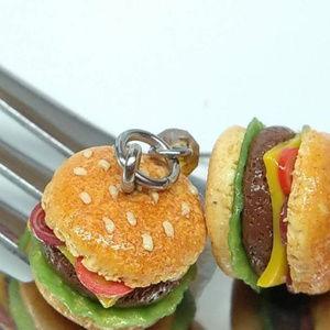 Jewelry - Miniature food Cheeseburger Earrings